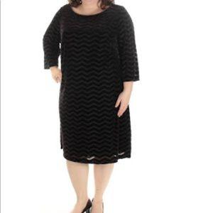 Jessica Howard Plus Chevron Velvet Dress